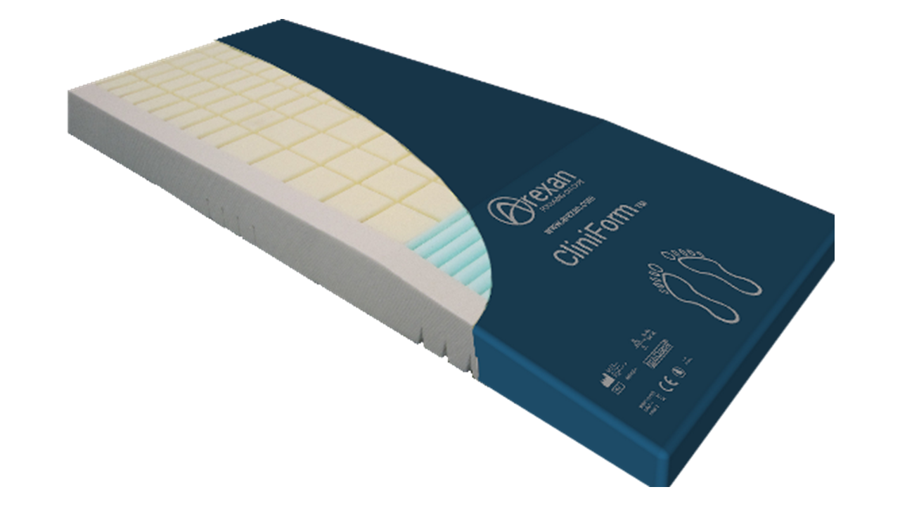 Multi-zone memory foam mattress CliniForm